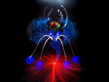 Taller de lightpainting y freehand por Diana Ponce